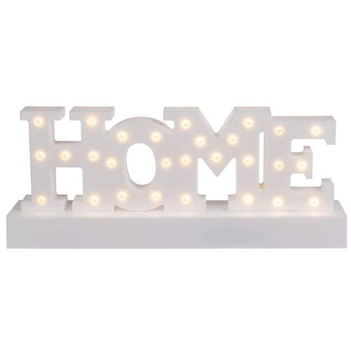 Letras decorativas LED, HOME