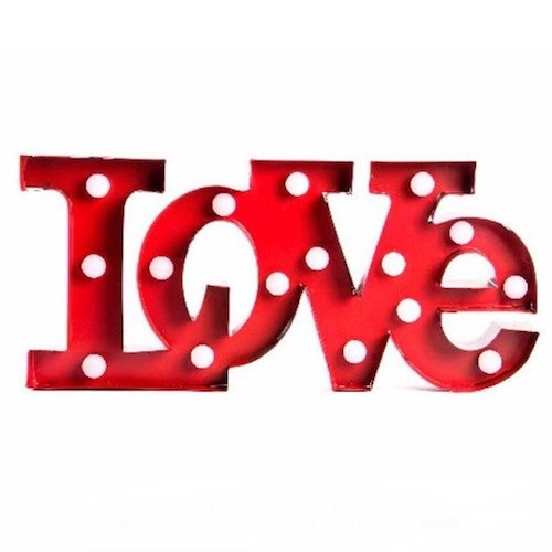 Letras decorativas luz LED - Love